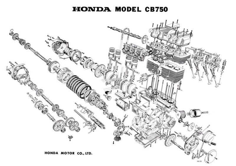 honda 750 motorcycle engine diagram  honda  get free image